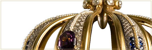 Pormenor da bala na Coroa Preciosa de Nossa Senhora de Fátima Capelinha