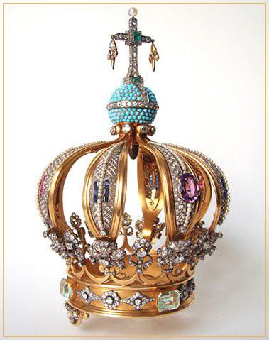 Coroa em Ouro e Pedras Preciosas 1942