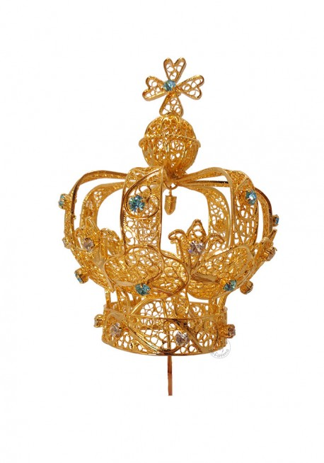 Coroa para Nossa Senhora de Fátima 80cm a 105, Filigrana