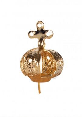 Corona para Nuestra Señora de Fátima 12cm a 17cm, Chapa 3 Agujeros