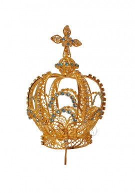 Crown for Our Lady of Fatima, 100cm to 120cm, Filigree (Rich)