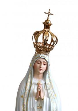 Coroa em Metal banhada a Ouro para Nossa Senhora de Fátima Capelinha 105cm