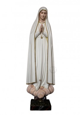Our Lady of Fatima Pilgrim in Wood 120cm