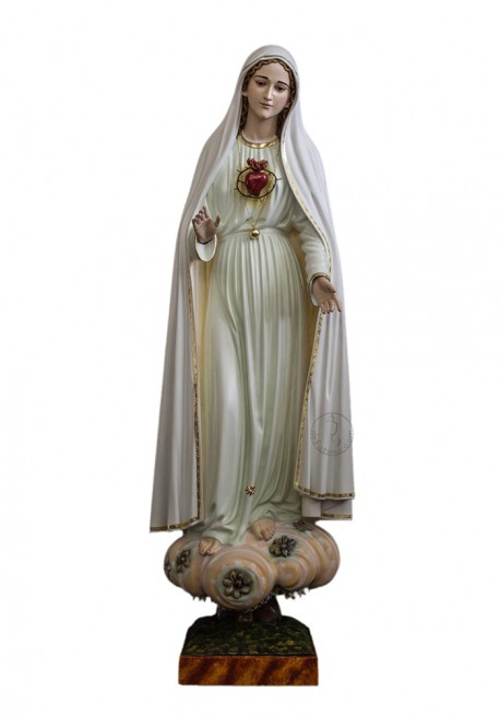 Immaculate Heart of Mary, in Wood 80cm