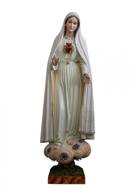 Inmaculado Corazón de María en Madera 80cm