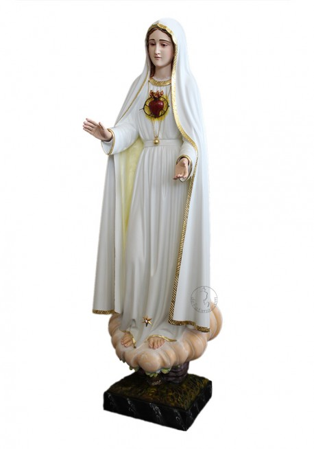 Immaculate Heart of Mary, in Wood 60cm mod.2