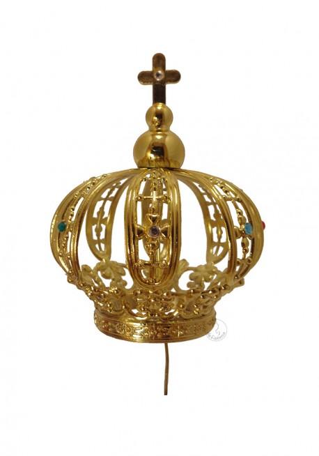 Coroa para Nossa Senhora de Fátima 60cm a 64cm, Plástico