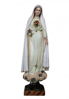 Immaculate Heart of Mary, in Wood 60cm