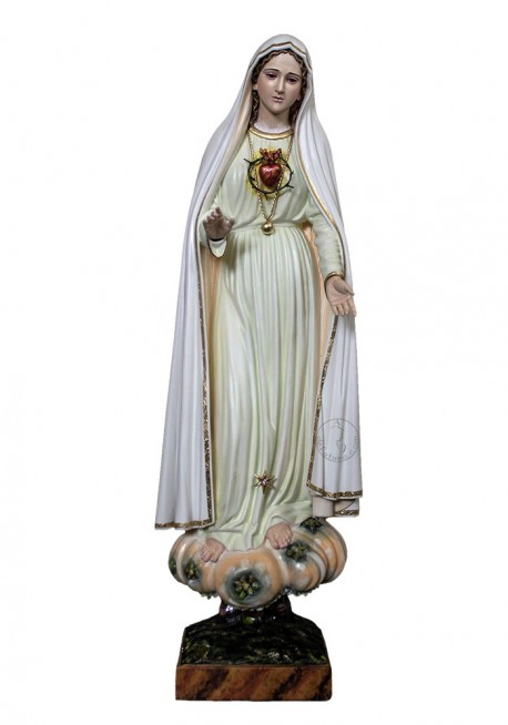 Statue of the Immaculate Heart of Mary, in Wood 60cm