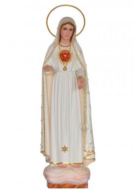 Inmaculado Corazón de María con Oro Fino, 40cm
