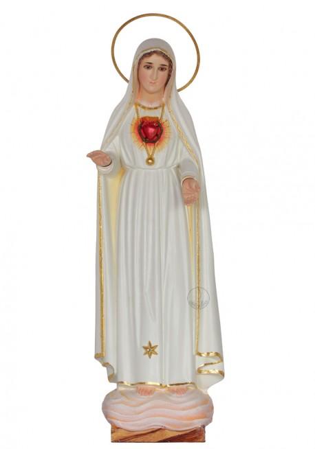 Inmaculado Corazón de María con oro fino y Galón, 40cm
