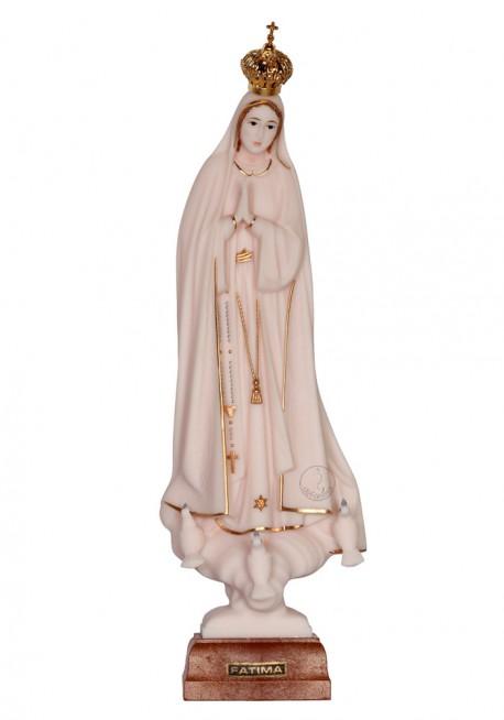 Nossa Senhora de Fátima, Imitação de Marfim c/ Galão 28cm