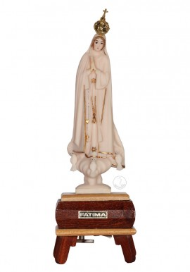 Our Lady of Fatima, Ivory Imitation w/ Gallon and Music