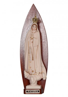 Our Lady of Fatima, Ivory Imitation w / Gallon in Backrest