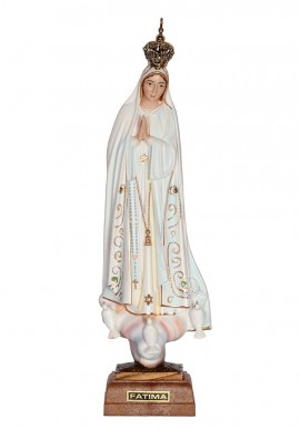 Nossa Senhora de Fátima, Clássica c/ Olhos Pintados 22cm