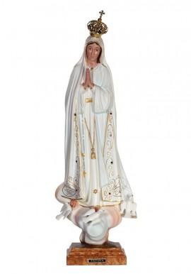 Nossa Senhora de Fátima, Clássica c/ Olhos Pintados 53cm