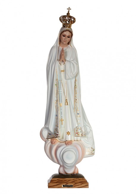 Nossa Senhora de Fátima, Clássica c/ Olhos de Cristal 64cm