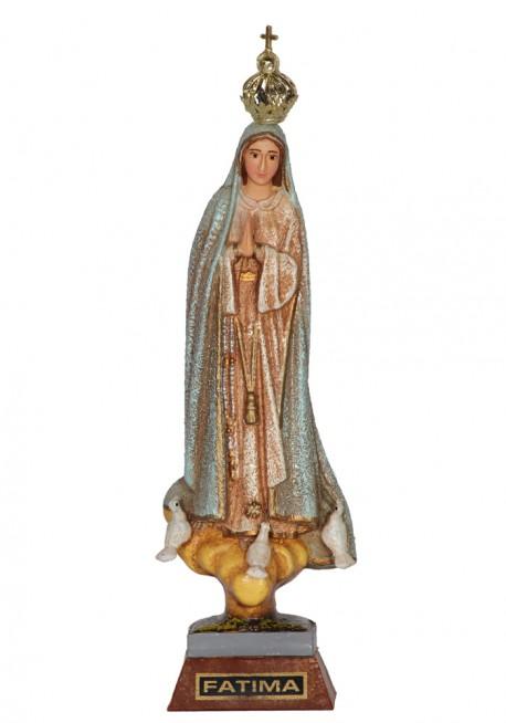 Nossa Senhora de Fátima, Granitada c/ Olhos Pintados 17cm