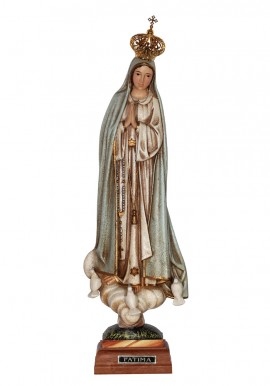 Our Lady of Fatima, Granite Imitation w/ Painted Eyes