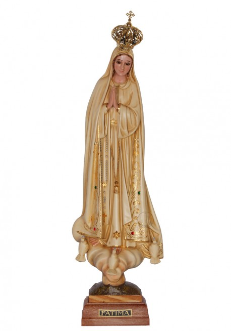 Nossa Senhora de Fátima, Patinada c/ Olhos de Cristal 35cm