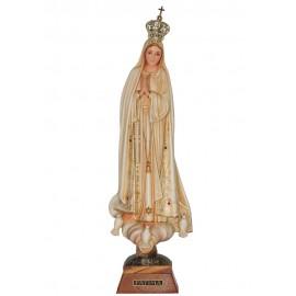 Nuestra Señora de Fátima, patinada con ojos pintados