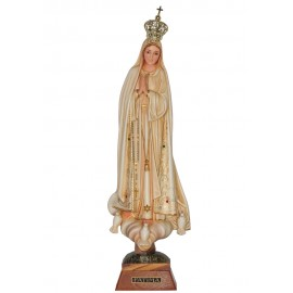 Our Lady of Fatima, Patinated, w/ Painted Eyes