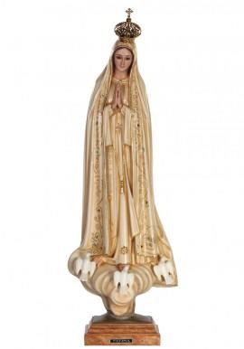 Nossa Senhora de Fátima, Patinada c/ Olhos de Cristal 53cm