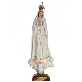 Nossa Senhora de Fátima, Clássica c/ Olhos de Cristal 53cm