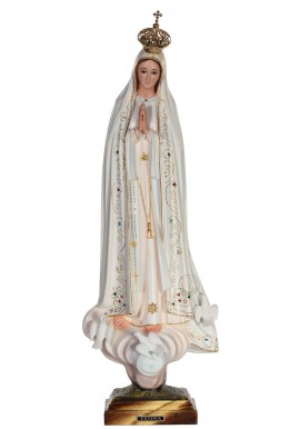 Nossa Senhora de Fátima, Clássica Mod.2 c/ Olhos de Cristal 53cm