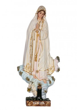 Nuestra Señora de Fátima, encina en madera 30cm