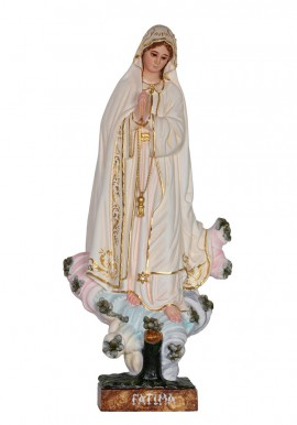 Our Lady of Fatima, Azinheira, in Wood 37cm