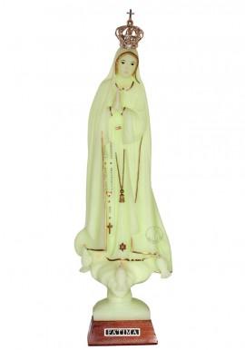 Nuestra Señora de Fátima, luminosa con galón de oro