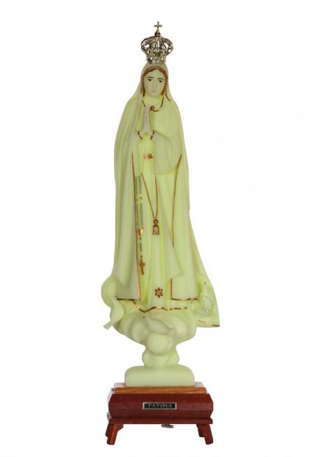 Nossa Senhora de Fátima, Luminosa c/ Galão e Música 48cm