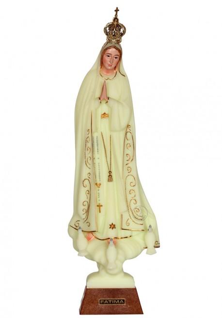 Nossa Senhora de Fátima, Luminosa c/ Cercadura 28cm