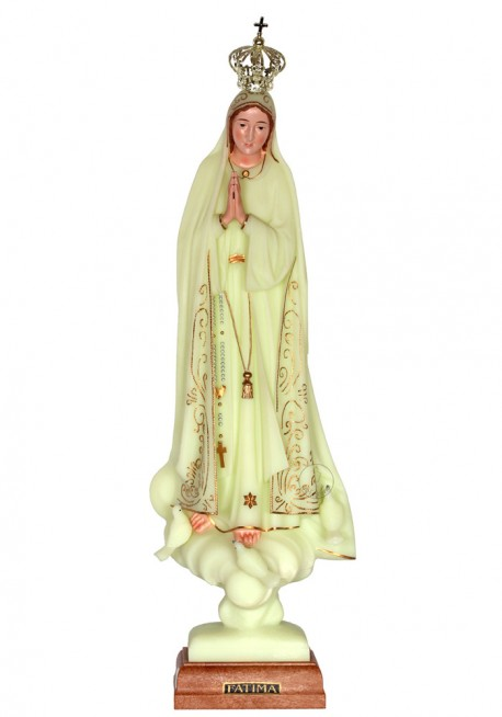 Our Lady of Fatima, Luminous w/ Skirting 45cm