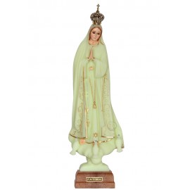 Our Lady of Fatima, Luminous w/ Skirting and Crystal Eyes