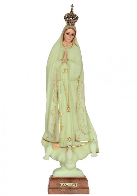 Nossa Senhora de Fátima, Luminosa c/ Cercadura e Olhos de Cristal 28cm