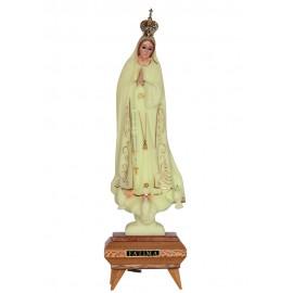 Nuestra Señora de Fátima, Luminosa con Música, Bordadura y Ojos de Cristal