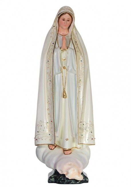 Nossa Senhora de Fátima em Terracota 82cm
