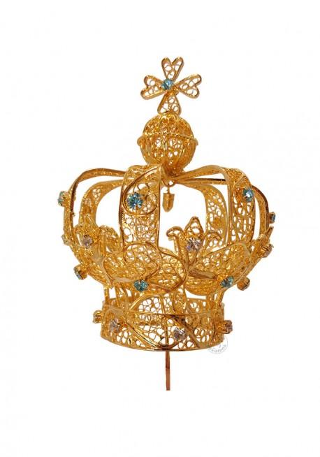 Coroa para Nossa Senhora de Fátima 80cm a 140, Filigrana