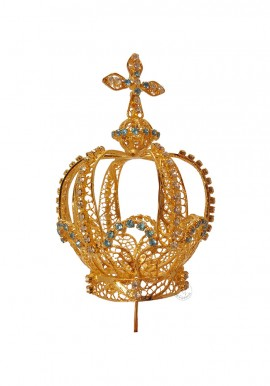 Crown for Our Lady of Fatima, 50cm to 100cm, Filigree (Rich)