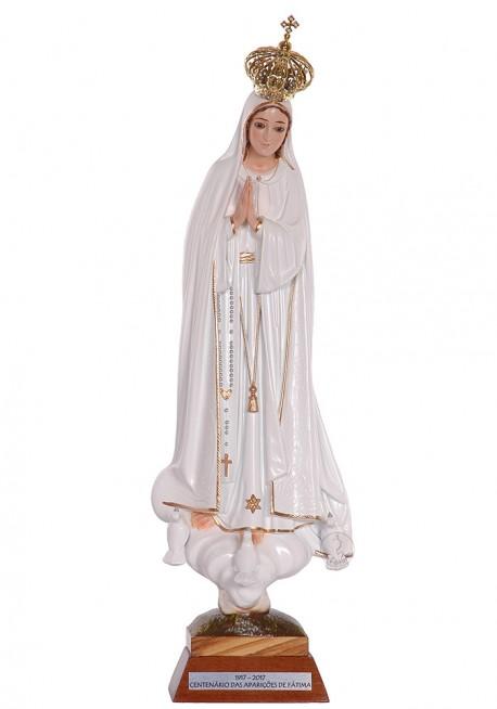 Nuestra Señora de Fátima Centenario con Ojos de Cristal 35cm