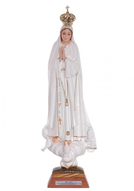 Nossa Senhora de Fátima, Centenário c/ Olhos de Cristal 45cm