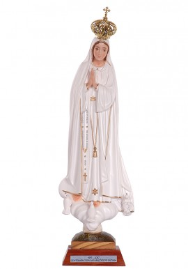 Our Lady of Fatima, Centennial w/ Painted Eyes 35cm