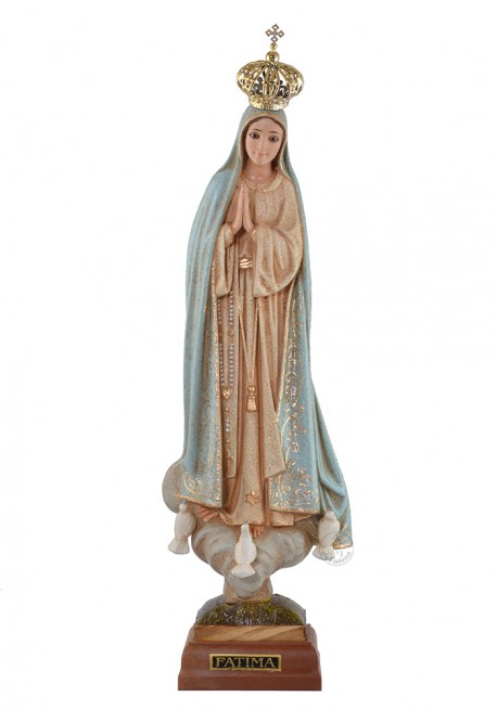 Our Lady of Fatima, Granite Imitation w/ Crystal Eyes
