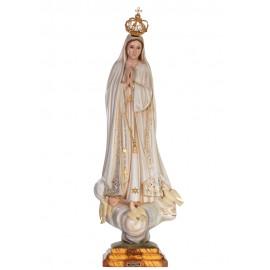 Nossa Senhora de Fátima, Patinada c/ Olhos de Cristal 73cm