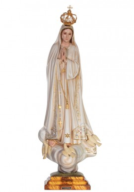 Our Lady of Fatima, Patinated w/ Crystal Eyes 73cm