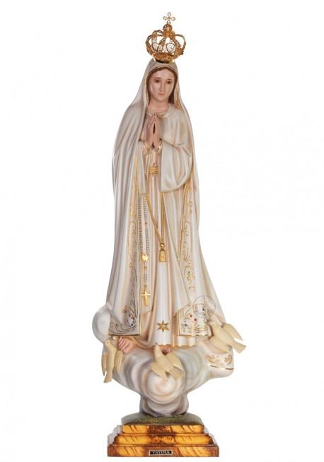 Nuestra Señora de Fátima, Patinada con Ojos de Cristal 73cm