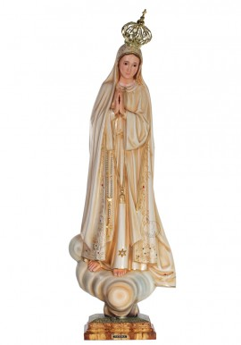 Our Lady of Fatima, Patinated w/ Crystal Eyes