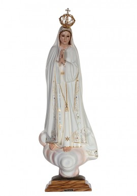 Our Lady of Fatima, Classic w/ Crystal Eyes 83cm